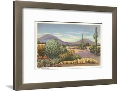 Gila Monster and Cacti