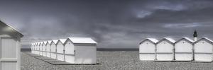 cabins beach by Gilbert Claes