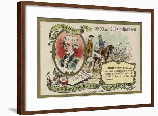 Gilbert Du Motier, Marquis De Lafayette, French Soldier--Framed Giclee Print