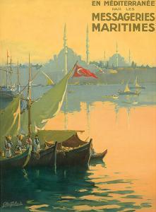 Istambul Messageries Maritimes c.1925 by Gilbert Galland