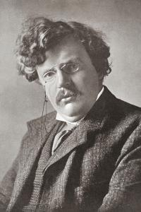 Gilbert Keith Chesterton, 1874 – 1936. English Writer. from the Wonderful Year 1909