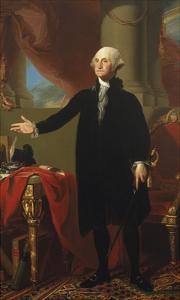 George Washington (Lansdowne Portrait), 1796 by Gilbert Stuart
