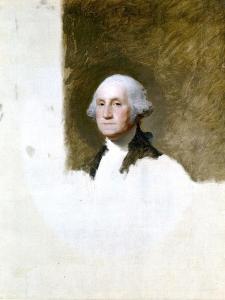 Portrait of George Washington (The Athenaeum Portrait) by Gilbert Stuart