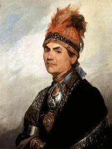 Portrait of Mohawk Chief Joseph Brant by Gilbert Stuart