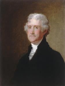 Thomas Jefferson, c.1821 by Gilbert Stuart