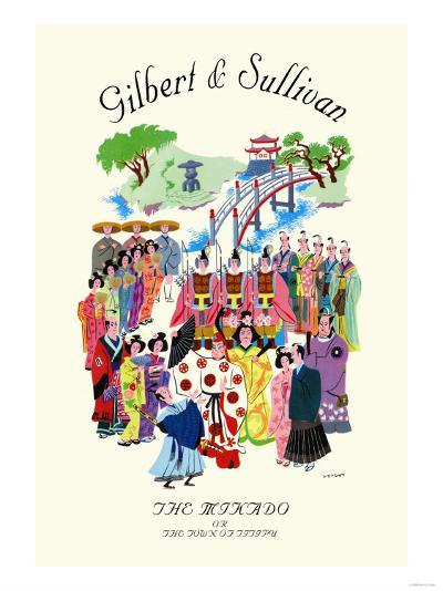 Gilbert & Sullivan: The Mikado, or The Town of Titipu--Art Print