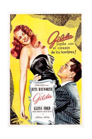 Gilda, Argentine Poster Art, Rita Hayworth, Glenn Ford, 1946--Giclee Print