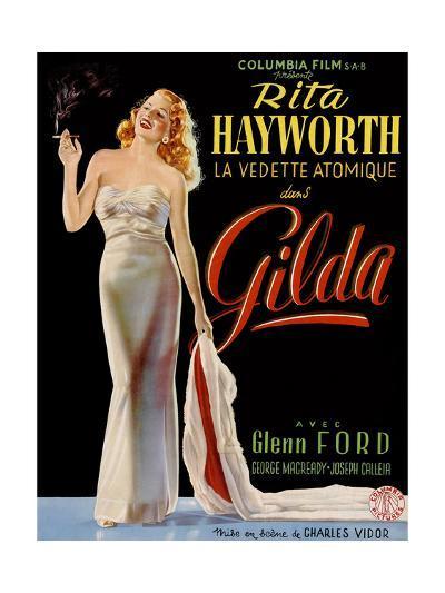 Gilda, Belgian Poster, Rita Hayworth, 1946--Giclee Print