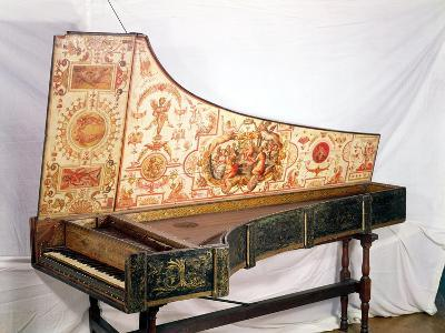 Gilded and Painted Harpsichord by Giovanni Antonio Bafto, Venice, 1774--Giclee Print