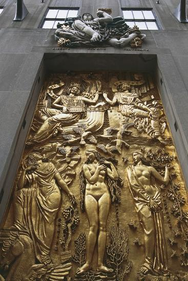 Gilded Bas-Relief, 5th Avenue, New York, United States--Giclee Print