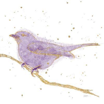 Gilded Bird I Lavender-Shirley Novak-Art Print