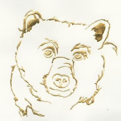 Gilded Black Bear-Chris Paschke-Art Print