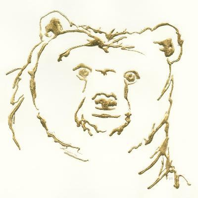 Gilded Brown Bear-Chris Paschke-Art Print