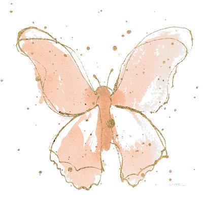 Gilded Butterflies II Blush-Shirley Novak-Art Print