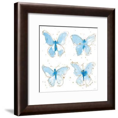 Gilded Butterflies-Shirley Novak-Framed Art Print