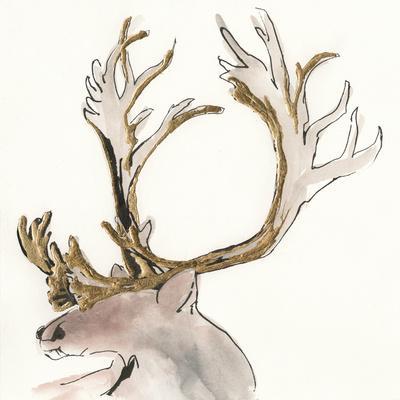 Gilded Caribou II-Chris Paschke-Art Print