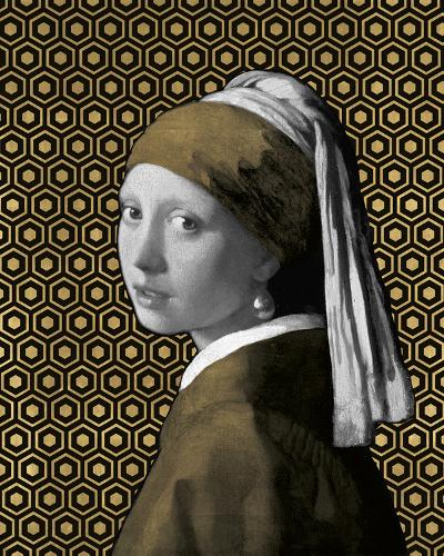 Gilded Earring (after Jan Vermeer)-Eccentric Accents-Giclee Print