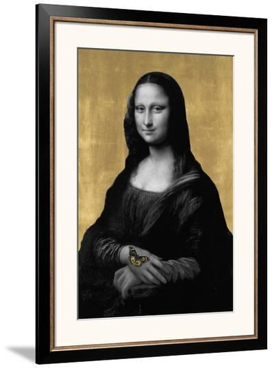 Gilded Enigma (after Leonardo da Vinci)-Eccentric Accents-Framed Giclee Print