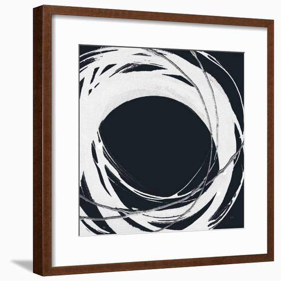Gilded Enso III BW-Chris Paschke-Framed Art Print