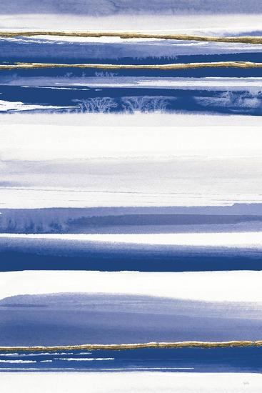 Gilded Grey III Indigo and White Crop-Chris Paschke-Art Print