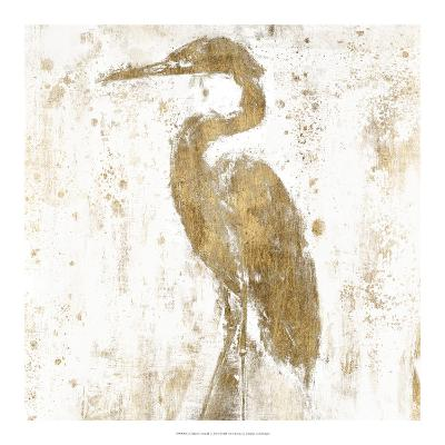 Gilded Heron II-Jennifer Goldberger-Art Print