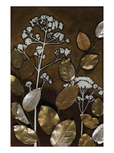 Gilded Leaf Collage II-Megan Meagher-Art Print