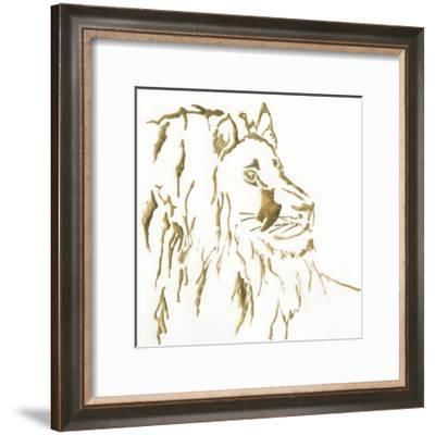 Gilded Lion-Chris Paschke-Framed Art Print