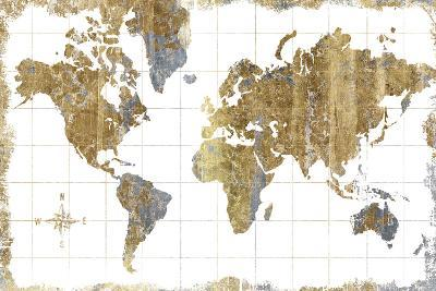 Gilded Map-Hugo Wild-Art Print