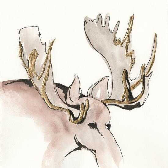 Gilded Moose-Chris Paschke-Art Print