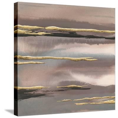 Gilded Morning Fog I Gold-Chris Paschke-Stretched Canvas Print
