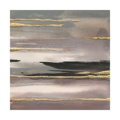 Gilded Morning Fog II Gold-Chris Paschke-Art Print