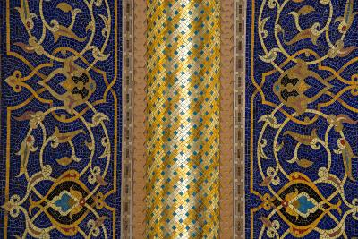 Gilded Mosaic Designs Inside the Sultan Qaboos Grand Mosque-Michael Melford-Photographic Print