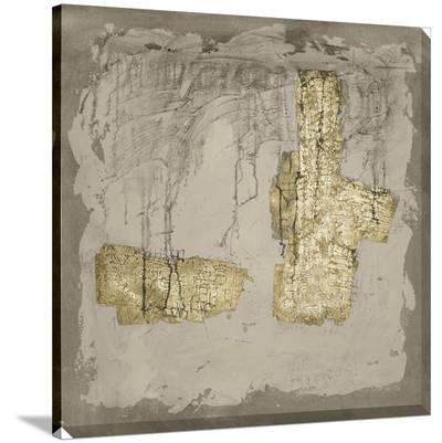 Gilded Neutral Ravine IV-Jennifer Goldberger-Stretched Canvas Print