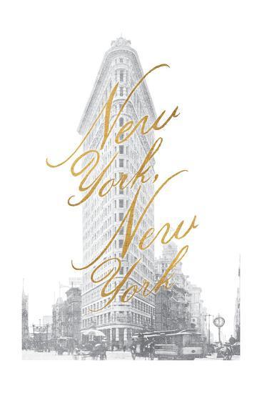Gilded New York v2-Moira Hershey-Art Print