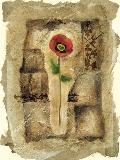 Gilded Poppy II-Jennifer Goldberger-Art Print