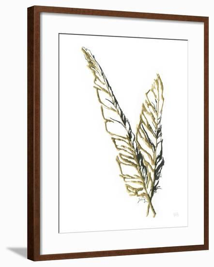 Gilded Raven Feather-Chris Paschke-Framed Art Print