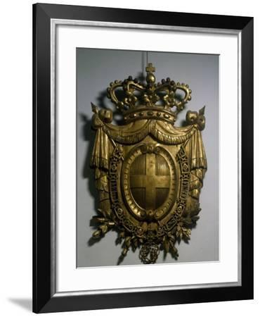 Gilded Savoy Coat of Arms, Italy--Framed Giclee Print