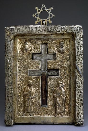 Gilded Silver Staurothek (Cross Reliquar), Byzantine, 12th Century--Photographic Print