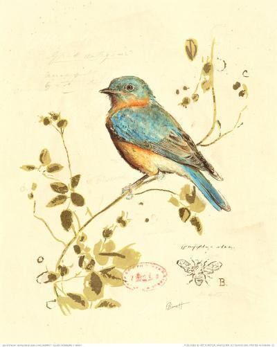 Gilded Songbird IV-Chad Barrett-Art Print