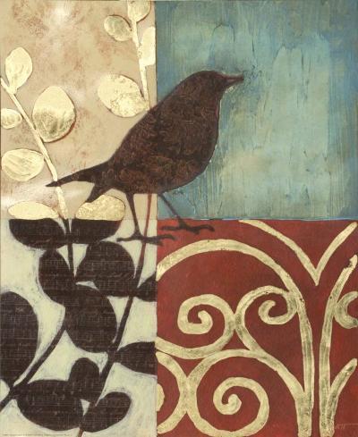 Gilded Sparrow I--Art Print