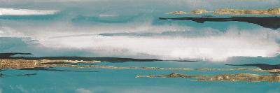 Gilded Storm I Teal Grey Crop-Chris Paschke-Art Print
