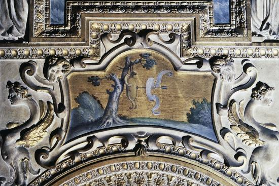 Gilded Stucco Framed Painting from Walls of Farnese Palace--Giclee Print