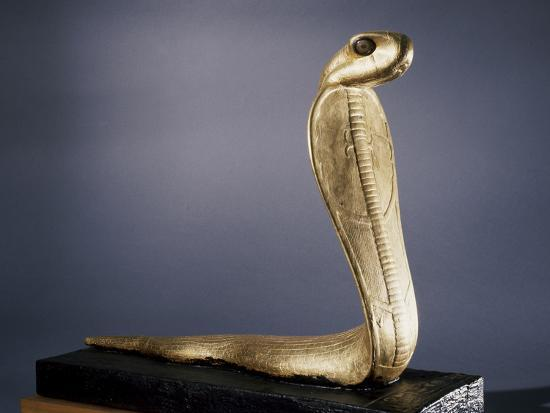 Gilded wood statue of a Netjer-Ankh (living god), Ancient Egyptian, 18th dynasty, c1333-1324 BC-Werner Forman-Photographic Print