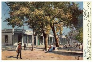 The Old Palace, Santa Fe, New Mexico, USA, C1900s by Gilette