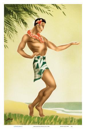 Hawaii Male Hula Dancer
