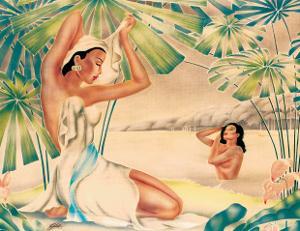 Hawaiian Bathing Beauties c.1930s by Gill