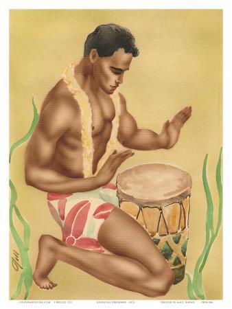 Hawaiian Hula Drummer, c.1930s