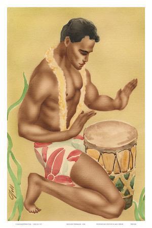 Hawaiian Kneeling Drummer, c.1930s
