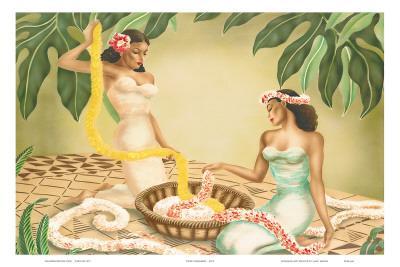 Hawaiian Leimakers, c.1940s