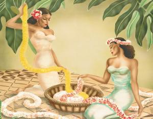 Hawaiian Leimakers, c.1940s by Gill